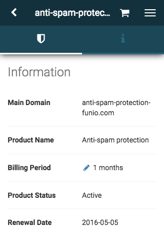 Manage your anti-spam protection service